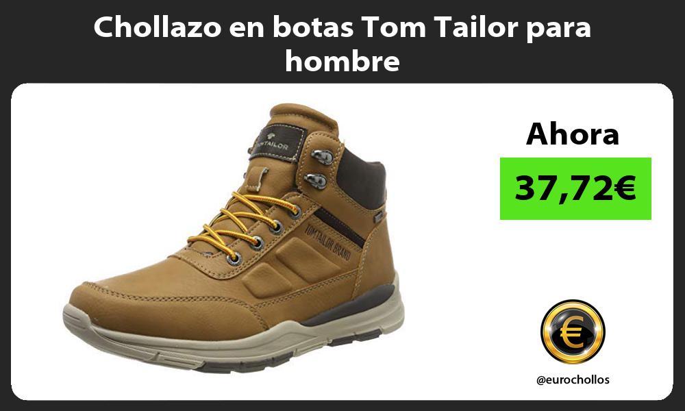 Chollazo en botas Tom Tailor para hombre
