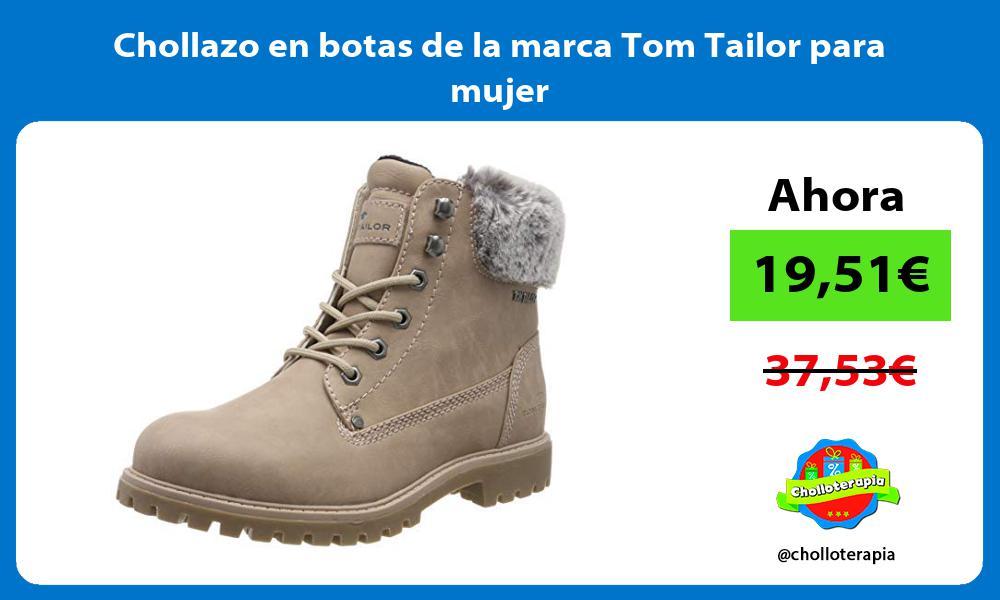 Chollazo en botas de la marca Tom Tailor para mujer