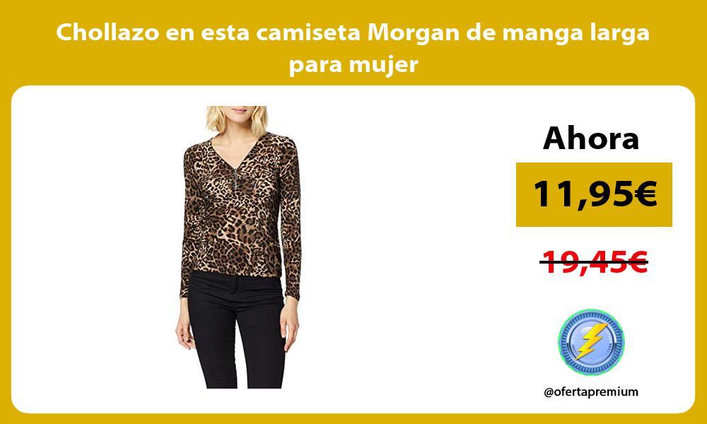 Chollazo en esta camiseta Morgan de manga larga para mujer