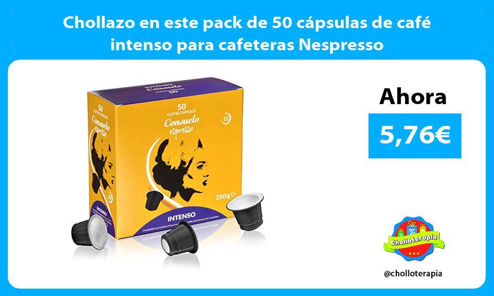 Chollazo en este pack de 50 cápsulas de café intenso para cafeteras Nespresso