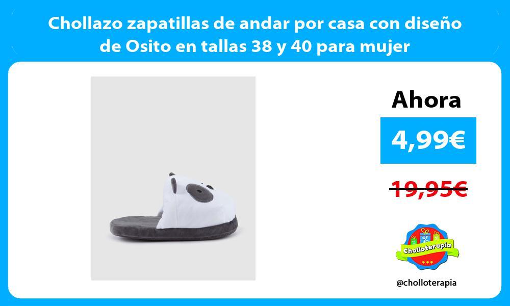 Chollazo zapatillas de andar por casa con diseño de Osito en tallas 38 y 40 para mujer