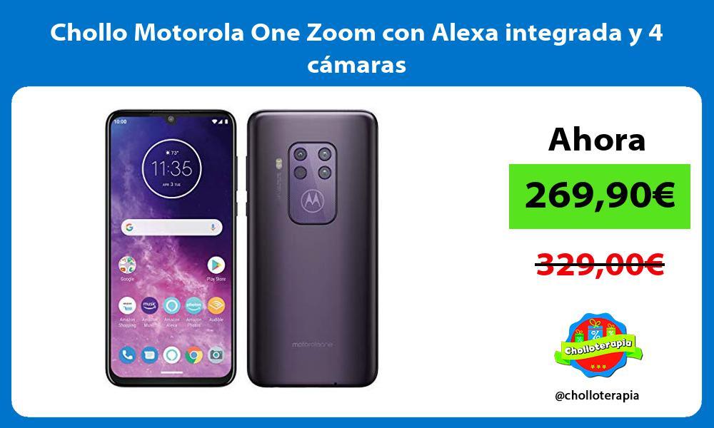 Chollo Motorola One Zoom con Alexa integrada y 4 cámaras