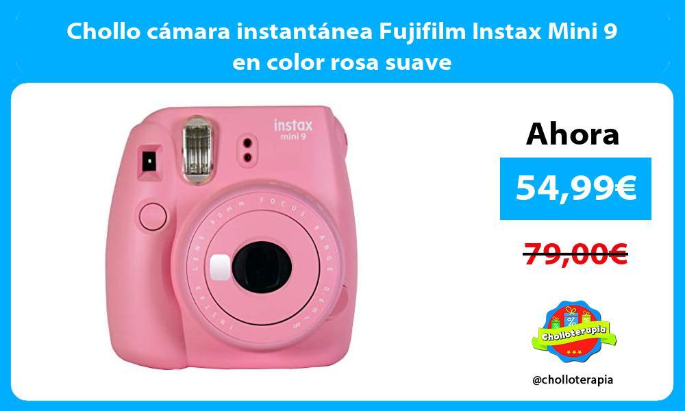 Chollo cámara instantánea Fujifilm Instax Mini 9 en color rosa suave