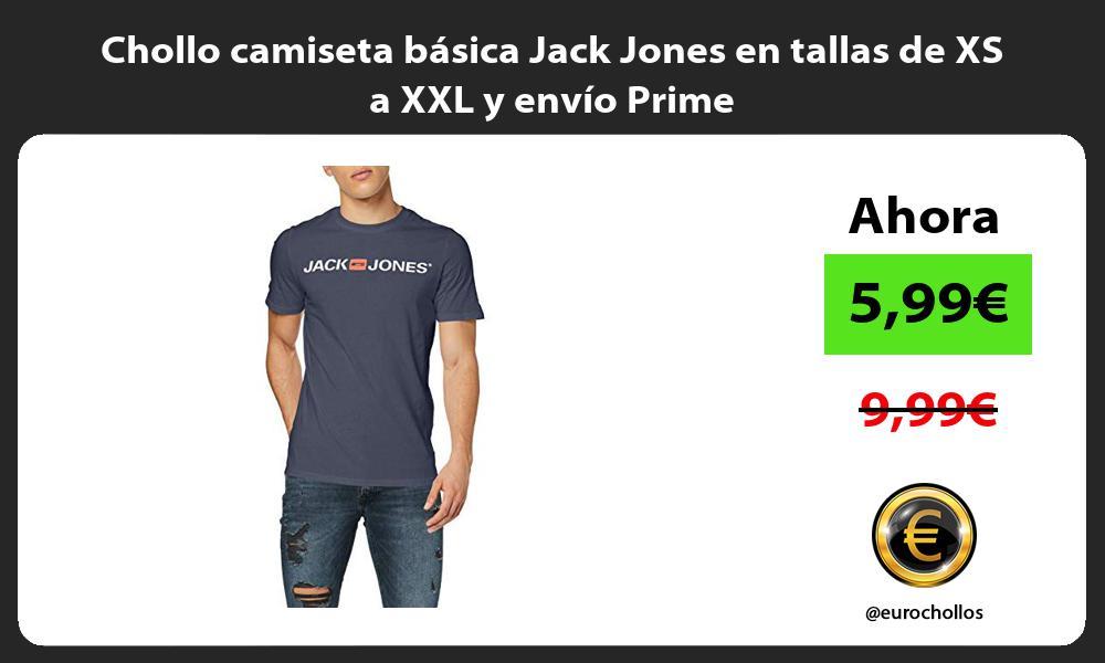 Chollo camiseta básica Jack Jones en tallas de XS a XXL y envío Prime