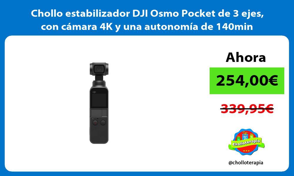 Chollo estabilizador DJI Osmo Pocket de 3 ejes con cámara 4K y una autonomía de 140min