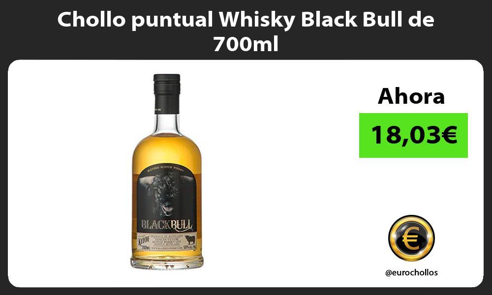 Chollo puntual Whisky Black Bull de 700ml