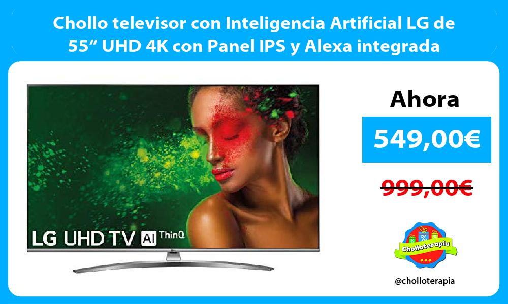 """Chollo televisor con Inteligencia Artificial LG de 55"""" UHD 4K con Panel IPS y Alexa integrada"""