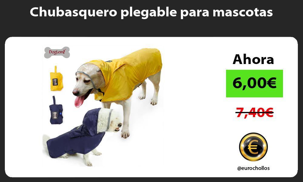 Chubasquero plegable para mascotas