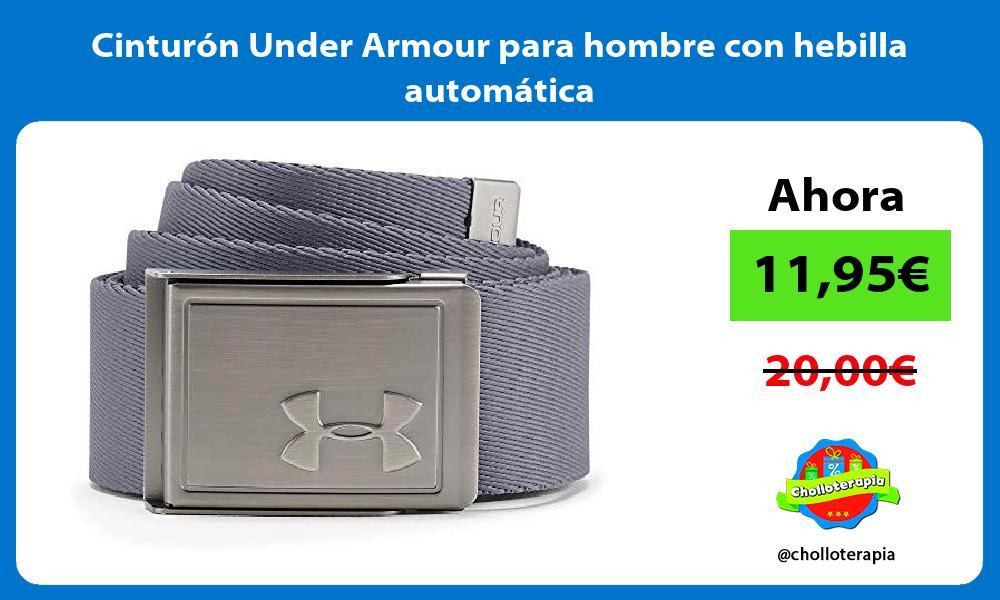 Cinturón Under Armour para hombre con hebilla automática
