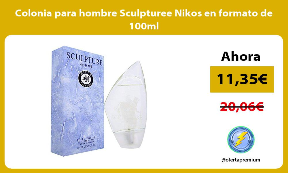Colonia para hombre Sculpturee Nikos en formato de 100ml