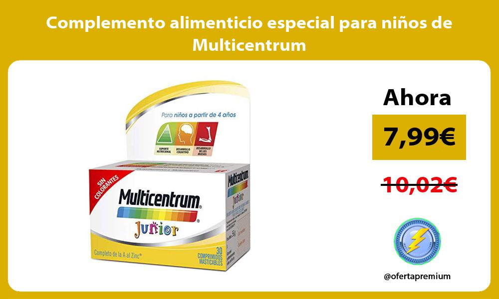 Complemento alimenticio especial para niños de Multicentrum