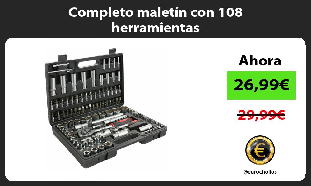 Completo maletín con 108 herramientas