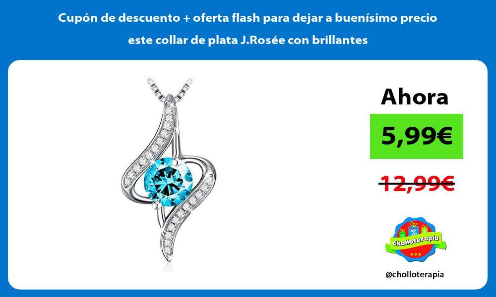 Cupón de descuento oferta flash para dejar a buenísimo precio este collar de plata J Rosée con brillantes