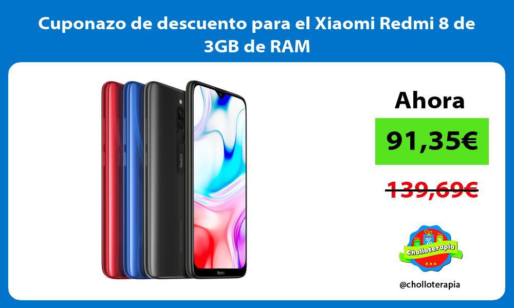 Cuponazo de descuento para el Xiaomi Redmi 8 de 3GB de RAM