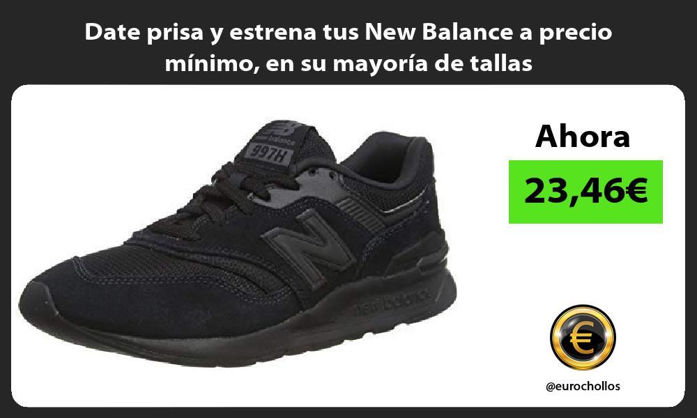 Date prisa y estrena tus New Balance a precio mínimo en su mayoría de tallas