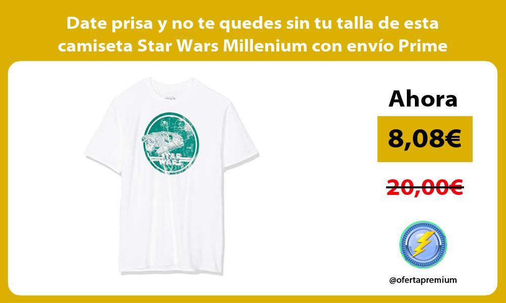 Date prisa y no te quedes sin tu talla de esta camiseta Star Wars Millenium con envío Prime