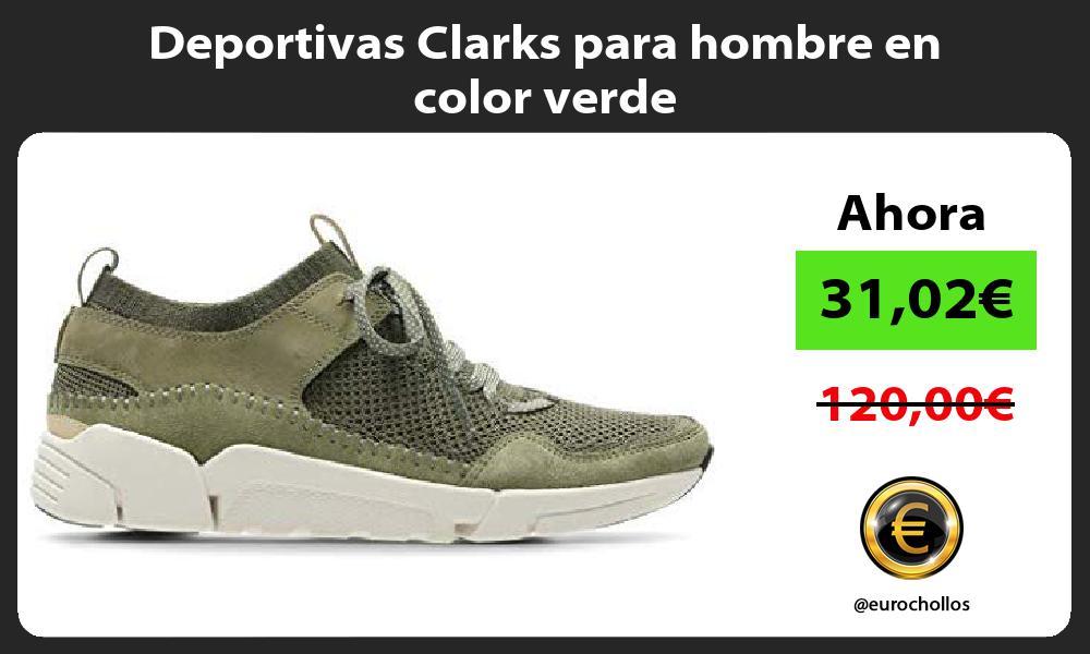 Deportivas Clarks para hombre en color verde