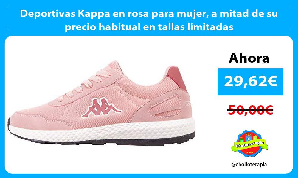 Deportivas Kappa en rosa para mujer a mitad de su precio habitual en tallas limitadas