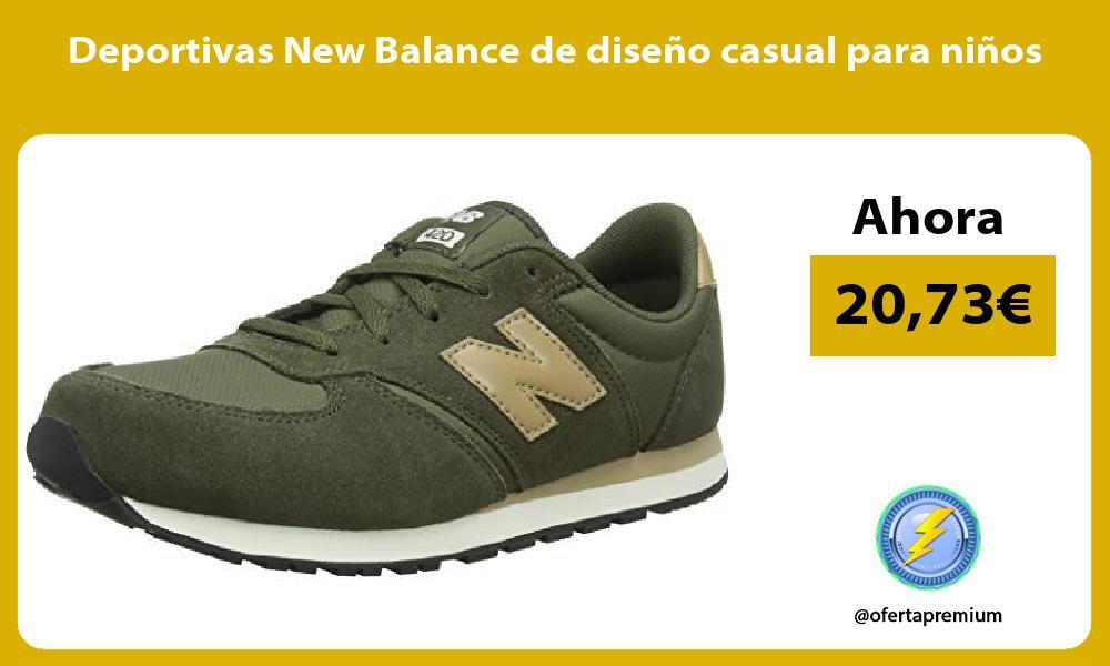 Deportivas New Balance de diseño casual para niños