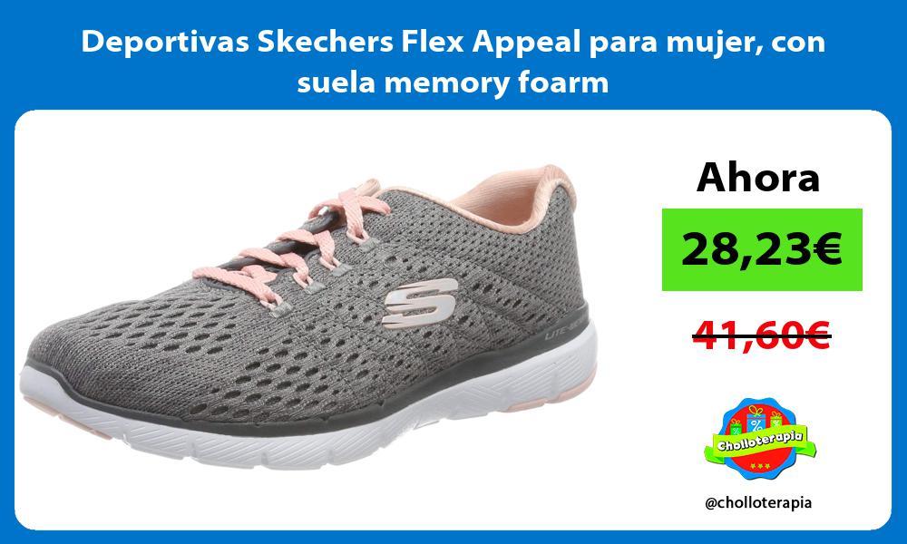 Deportivas Skechers Flex Appeal para mujer con suela memory foarm