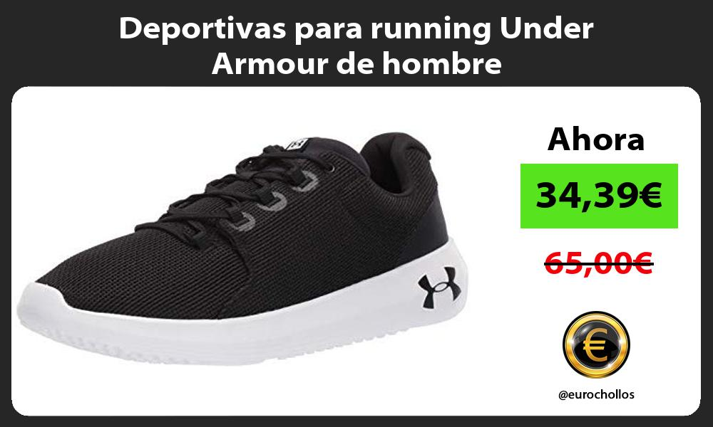 Deportivas para running Under Armour de hombre
