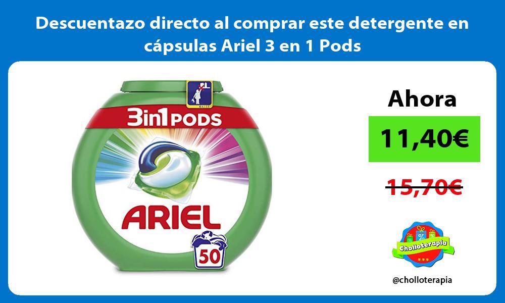 Descuentazo directo al comprar este detergente en cápsulas Ariel 3 en 1 Pods