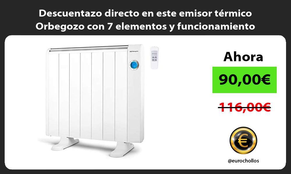 Descuentazo directo en este emisor térmico Orbegozo con 7 elementos y funcionamiento programable