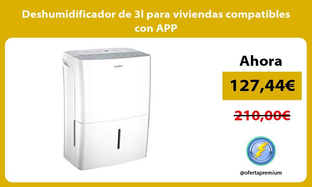 Deshumidificador de 3l para viviendas compatibles con APP
