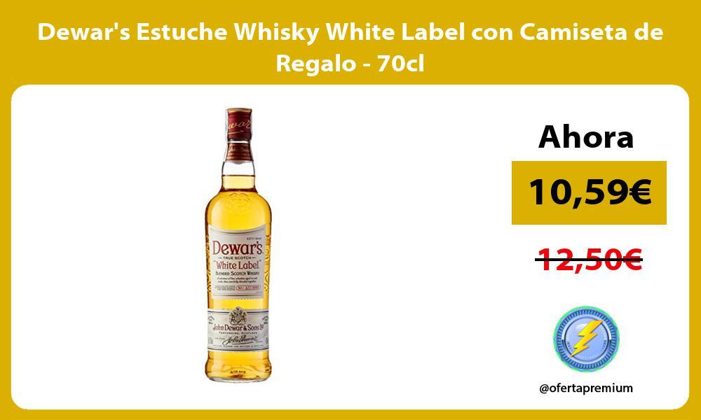 Dewars Estuche Whisky White Label con Camiseta de Regalo 70cl