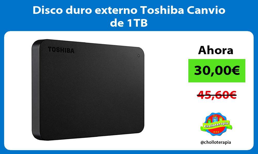 Disco duro externo Toshiba Canvio de 1TB