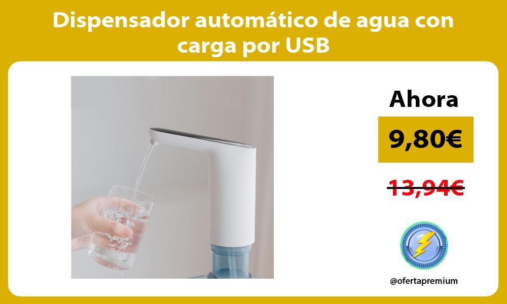 Dispensador automático de agua con carga por USB