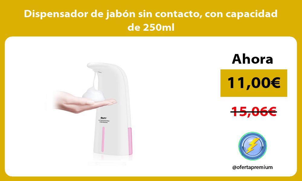Dispensador de jabón sin contacto con capacidad de 250ml