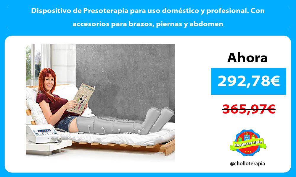 Dispositivo de Presoterapia para uso doméstico y profesional Con accesorios para brazos piernas y abdomen