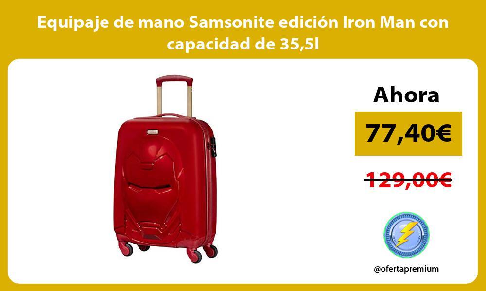 Equipaje de mano Samsonite edición Iron Man con capacidad de 355l
