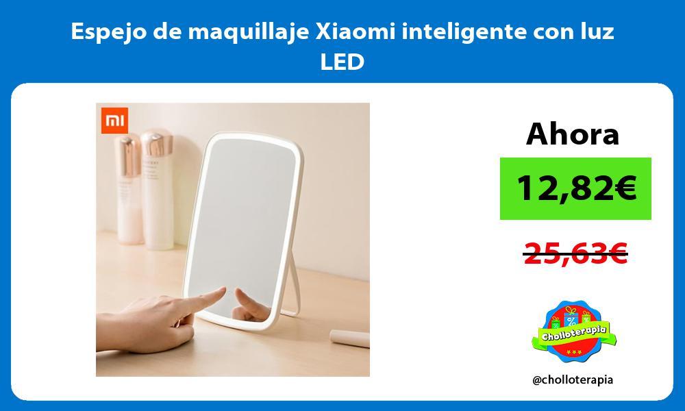 Espejo de maquillaje Xiaomi inteligente con luz LED