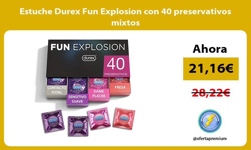 Estuche Durex Fun Explosion con 40 preservativos mixtos