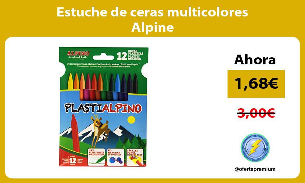 Estuche de ceras multicolores Alpine