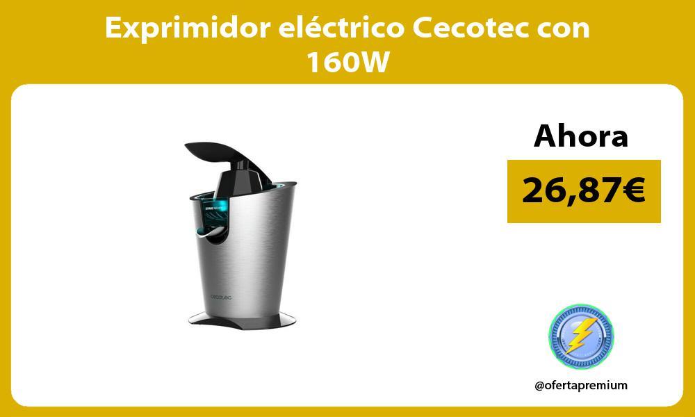 Exprimidor eléctrico Cecotec con 160W