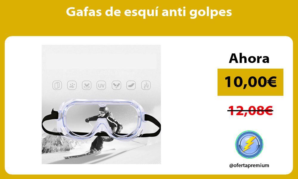 Gafas de esquí anti golpes