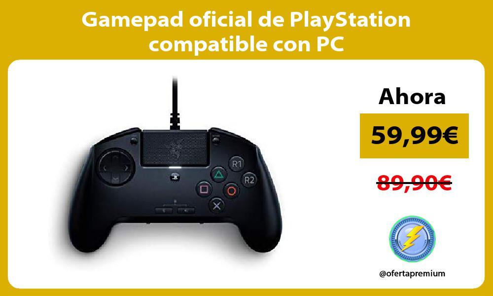 Gamepad oficial de PlayStation compatible con PC