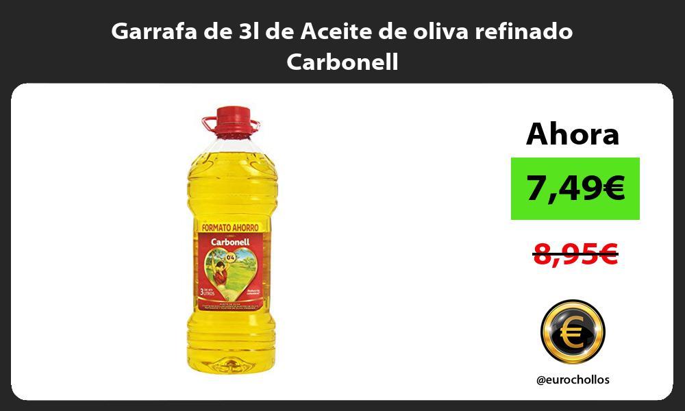 Garrafa de 3l de Aceite de oliva refinado Carbonell