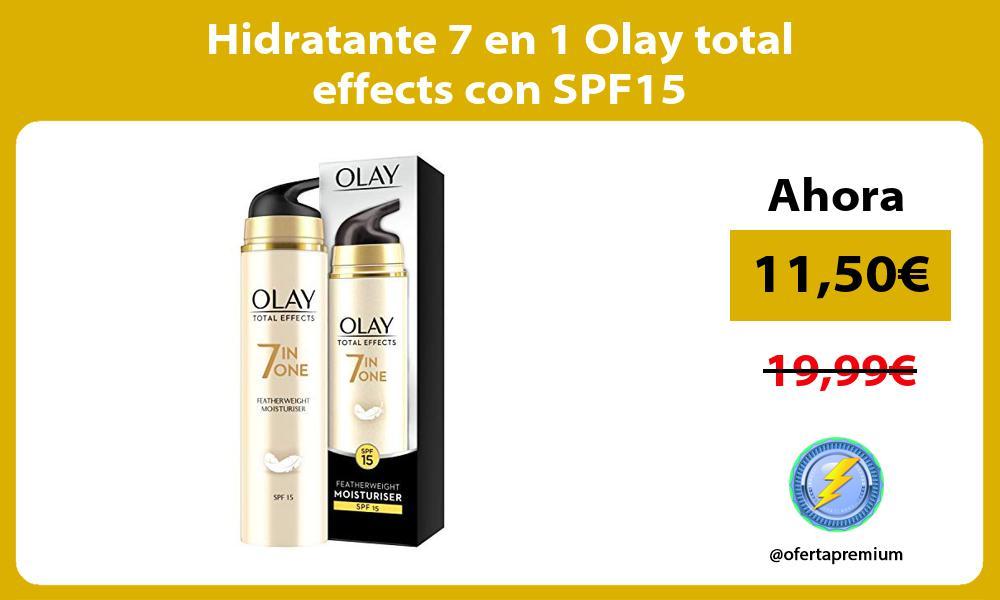 Hidratante 7 en 1 Olay total effects con SPF15