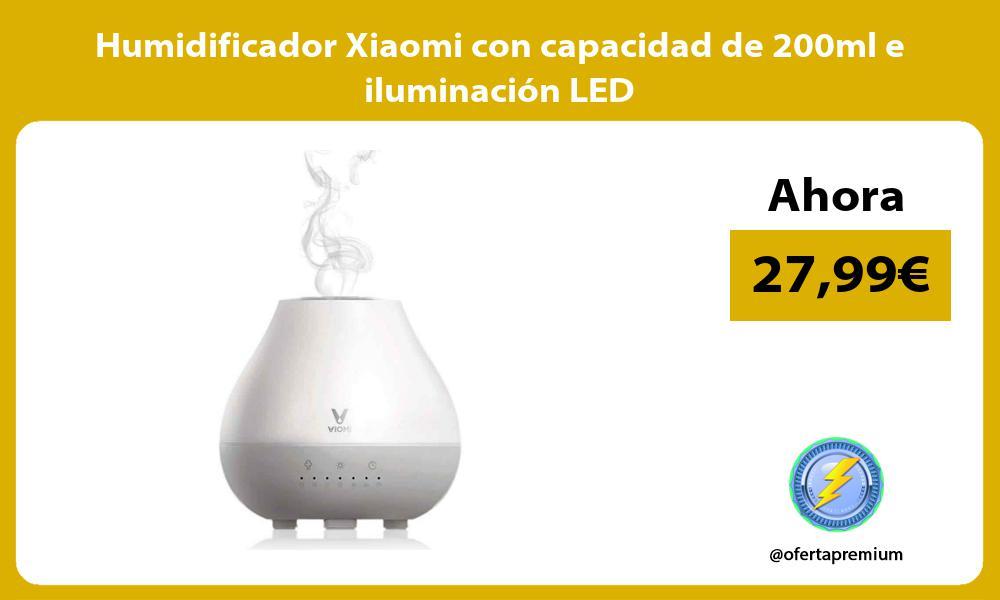Humidificador Xiaomi con capacidad de 200ml e iluminación LED