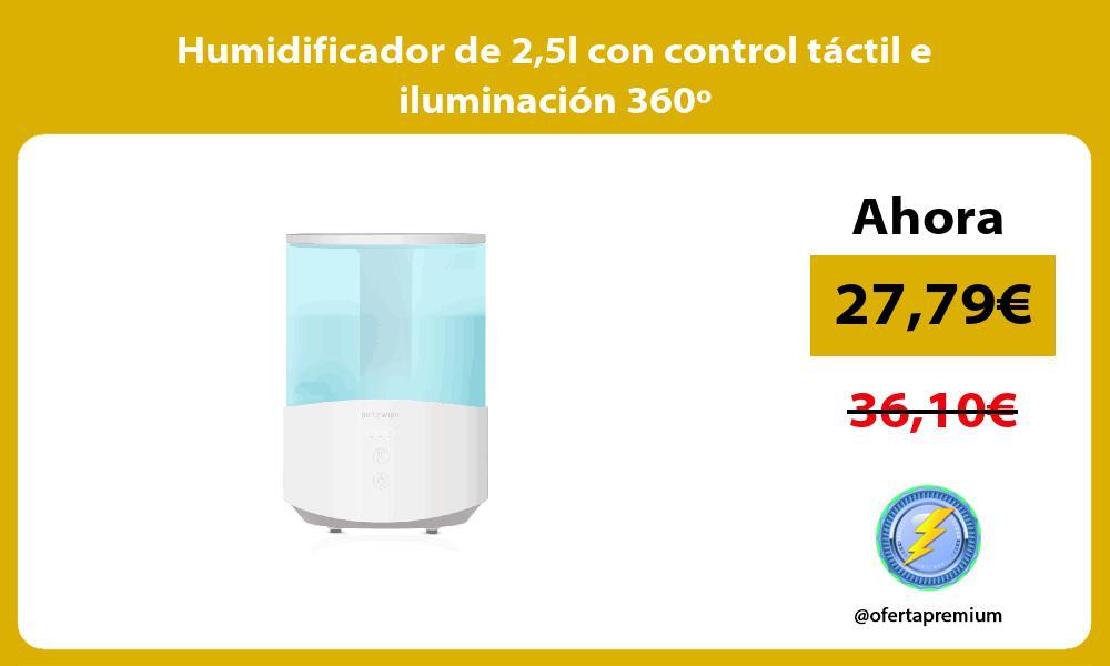 Humidificador de 25l con control táctil e iluminación 360º