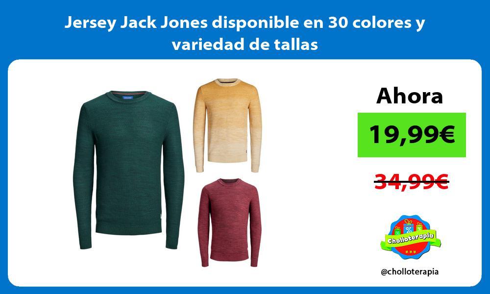 Jersey Jack Jones disponible en 30 colores y variedad de tallas