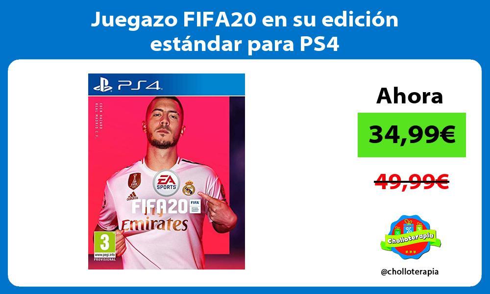 Juegazo FIFA20 en su edición estándar para PS4
