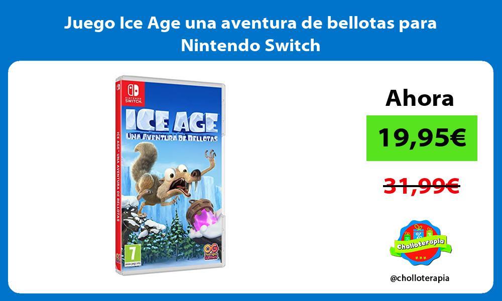 Juego Ice Age una aventura de bellotas para Nintendo Switch