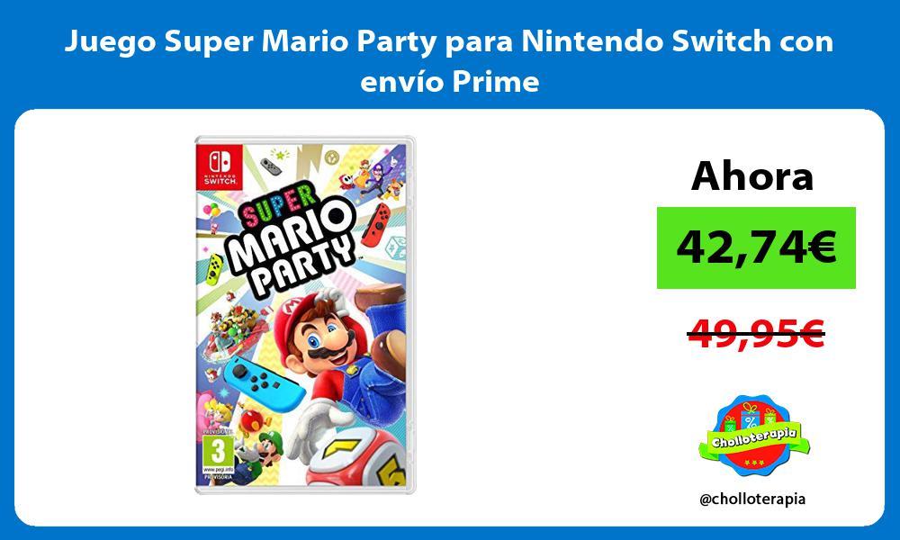 Juego Super Mario Party para Nintendo Switch con envío Prime