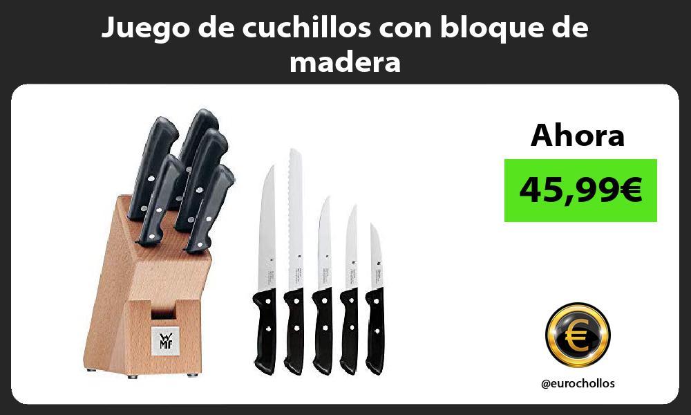 Juego de cuchillos con bloque de madera