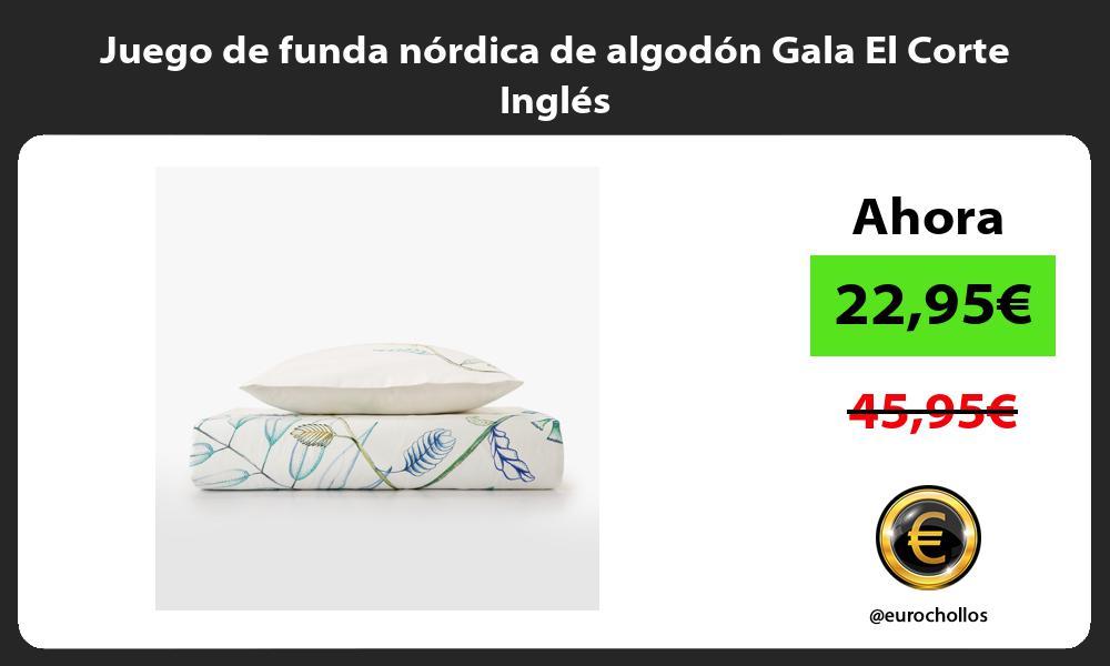 Juego de funda nórdica de algodón Gala El Corte Inglés